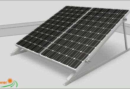 Hệ giàn khung điện mặt trời lắp nghiêng trên mặt phẳng