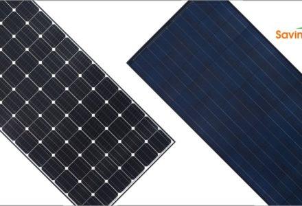 Lắp đặt năng lượng mặt trời với tấm pin poly và mono