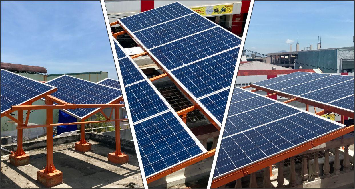 Hệ thống điện mặt trời hòa lưới 3kW văn phòng Posotec Đà Nẵng
